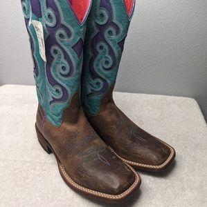 Macie Bean Brown Square Toe Boots 6.5